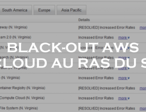 Black-out AWS : le Cloud au ras-du-sol ?