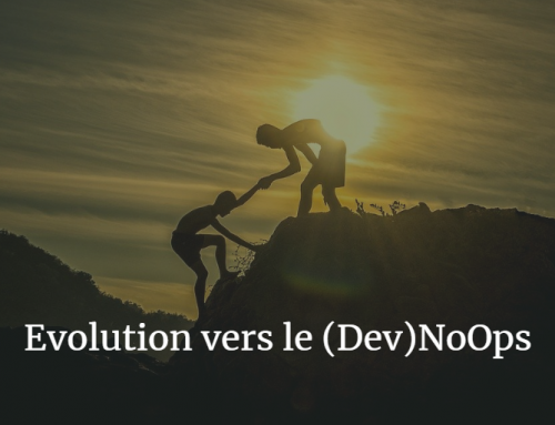 Evolution vers le (Dev)NoOps